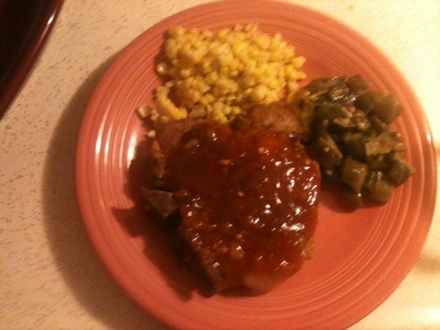 smothered pork chop