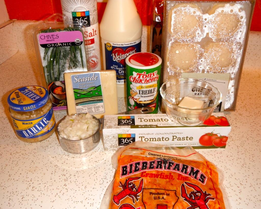 Crawfish Pasta Ingredients