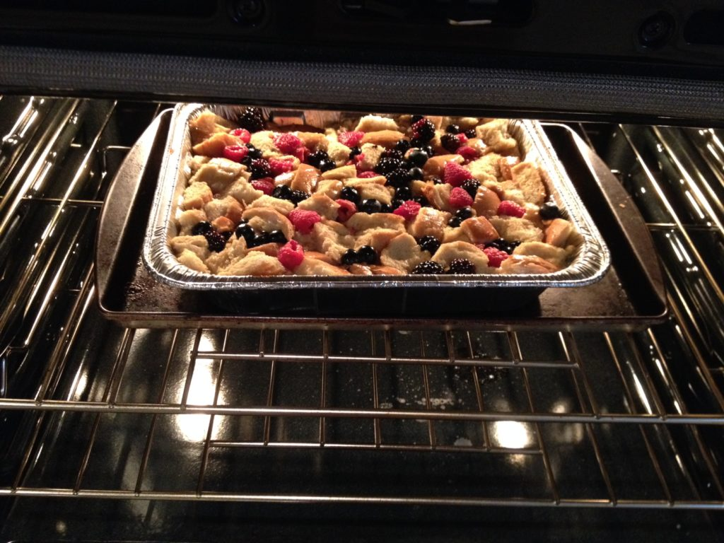 Triple Berry Bread Pudding