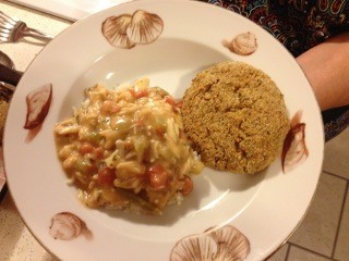 Crab Cakes with Crab Etouffee