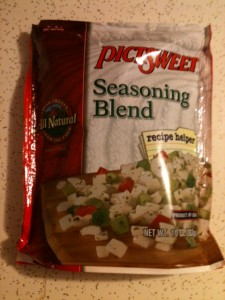 Frozen seasoning blend