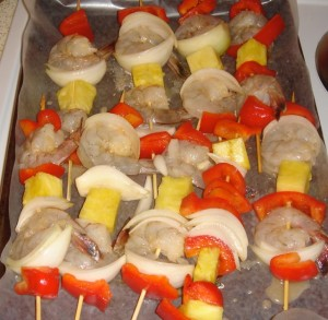 Shrimp Kabobs Oven Ready