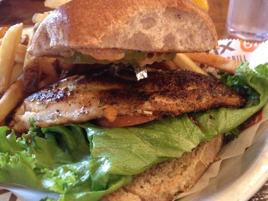 Roux 61 Blackened Catfish Sandwich